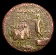 London Coins : A151 : Lot 2004 : Brass Sestertius, Caligula, Rome 37-8, Rev.Caligula on platform haranguing 5 soldiers, ADLOCVT above...
