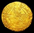 London Coins : A151 : Lot 2040 : Angel Henry VIII Third Coinage S.2300 mintmark Lis GVF, the portrait excellent, the ship with some w...