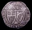 London Coins : A151 : Lot 2109 : Shilling 1656 Commonwealth mintmark Sun New ESC 150, Old ESC 995 Good Fine with light porosity and s...
