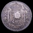 London Coins : A151 : Lot 2291 : Dollar George III Oval Countermark on a Mexico City 8 Reales 1795 FM Mo ESC 129 Countermark EF, host...