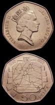 London Coins : A151 : Lot 2411 : Fifty Pence 1992/3 EU Presidency S.4352 (2) UNC lightly toning, one with bagmarks, many of this issu...