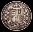 London Coins : A151 : Lot 2637 : Halfcrown 1848 8 over 6 New ESC 2728, Old ESC 681B VG, the reverse better, Rare