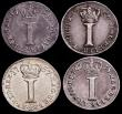 London Coins : A151 : Lot 3354 : Maundy Pennies (4) 1756 ESC 2348 EF, 1757 Colon after GRATIA ESC 2349A (2) NEF and EF, 1758 ESC 2350...