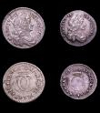 London Coins : A151 : Lot 3356 : Maundy Set 1681 ESC 2377 Fourpence Fine, Threepence Fine, Twopence EF and Penny VF, a scarce set