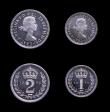 London Coins : A151 : Lot 3459 : Maundy Set 1973 ESC 2590 UNC and lustrous, the Fourpence lightly toning on the reverse
