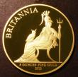London Coins : A151 : Lot 609 : Five Hundred Pounds Britannia 2013 5oz. of .999 Gold Proof FDC , Britannia holding a trident , with ...