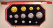 London Coins : A151 : Lot 637 : Proof Set 1902 Long Matt Set Gold £5, £2, Sovereign and Half Sovereign, then Crown to Ma...