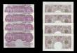 London Coins : A151 : Lot 86 : Ten shillings Peppiatt mauve B251 (4) all wartime issues 1940, series J76D, S05D, S48D and W93D GVF ...