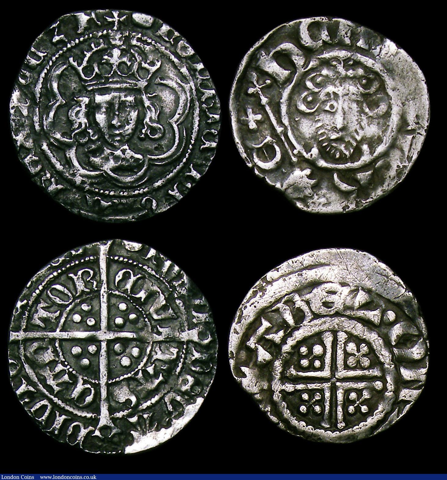 Halfgroat Henry VII Canterbury Mint, No stops, S 2211