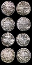 London Coins : A152 : Lot 2005 : Pennies Henry III Long Cross (8) from the Brussels Hoard a pleasing group generally VF - EF