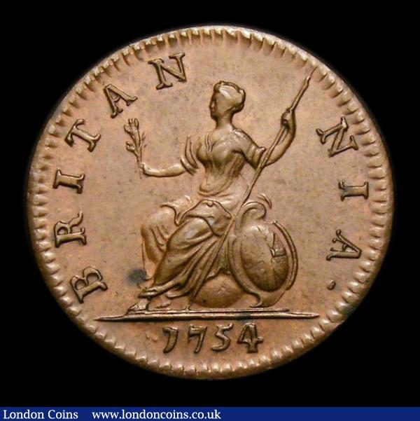 farthing 1754 buy and sell english coins auction prices. Black Bedroom Furniture Sets. Home Design Ideas