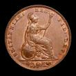 London Coins : A152 : Lot 2248 : Farthing 1858 Small date, CGS Variety 02, EF with traces of lustre, slabbed and graded CGS 60, Ex-Cr...
