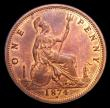 London Coins : A152 : Lot 2419 : Penny 1874H Bronze Proof Freeman 74 dies 7+H About as struck with original colour, Ex-Alderley Colle...