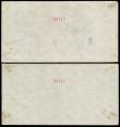 London Coins : A152 : Lot 242 : China, People's Bank of China (2) 10000 yuan front & back Specimen proofs dated 1949, trace...