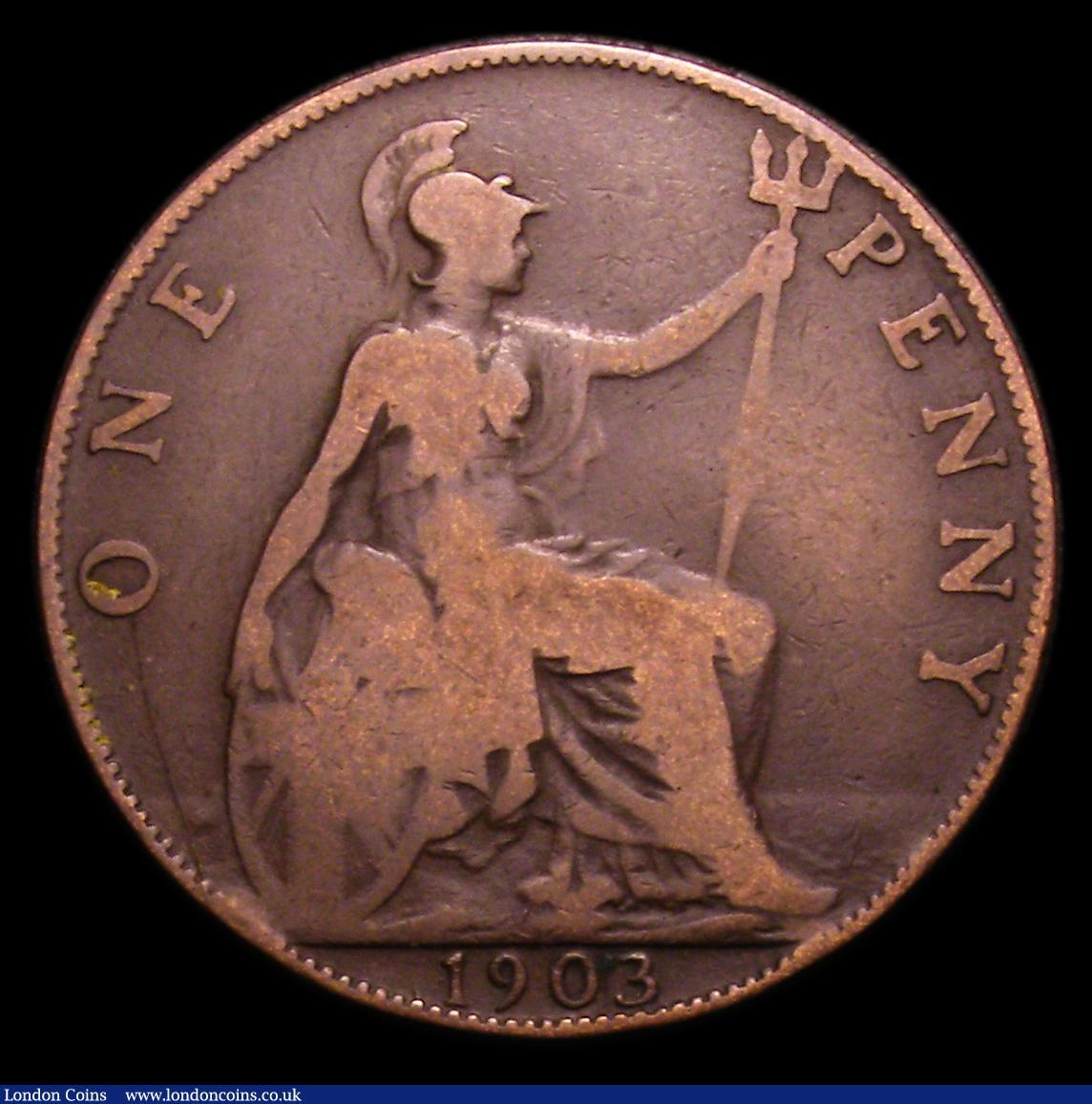 Penny 1903 Open 3 Freeman 158A dies 1+B VG Rare, Ex-John of