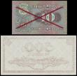 London Coins : A152 : Lot 273 : Estonia (2) 10 krooni SPECIMEN dated 1928 series No.0012345--6789000, PROOV in red diagonally across...