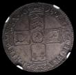 London Coins : A152 : Lot 2854 : Halfcrown 1698 ESC 554 NGC MS63 and nicely toned, hard to find early milled in MS63 grade
