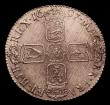 London Coins : A152 : Lot 3241 : Shilling 1697 Third Bust ESC 1102 EF with adjustment lines