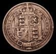 London Coins : A152 : Lot 3329 : Shilling 1889 Small Jubilee Head ESC 1354, Davies 985 dies 1D U of QUI further from the shield, by f...