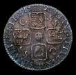 London Coins : A152 : Lot 3395 : Sixpence 1723 SSC Small Letters on obverse ESC 1600 GVF/VF toned with some haymarking