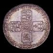 London Coins : A152 : Lot 3401 : Sixpence 1758 ESC 1623 A/UNC attractively toned the reverse colourfully so, and over original lustre...