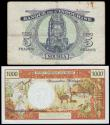 London Coins : A152 : Lot 439 : New Hebrides (2) 1000 francs issued 1975 series L.1 14357, signature 2 Panouillot/de Lattre, Pick20b...