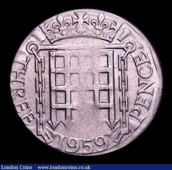 Mint Error - Mis-Strike Threepence 1959 struck on a cupro