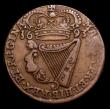 London Coins : A153 : Lot 1055 : Ireland Halfpenny 1693 S.6597 NVF/GF with some weakness of strike on part of the King's name an...