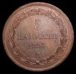 London Coins : A153 : Lot 1069 : Italian States - Papal States 5 Baiocchi 1853R KM#1356 EF toned
