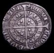 London Coins : A153 : Lot 1915 : Groat Henry VI Calais Mint mule Obverse Annulet type, Reverse Rosette type with no Mascle, Good VF w...