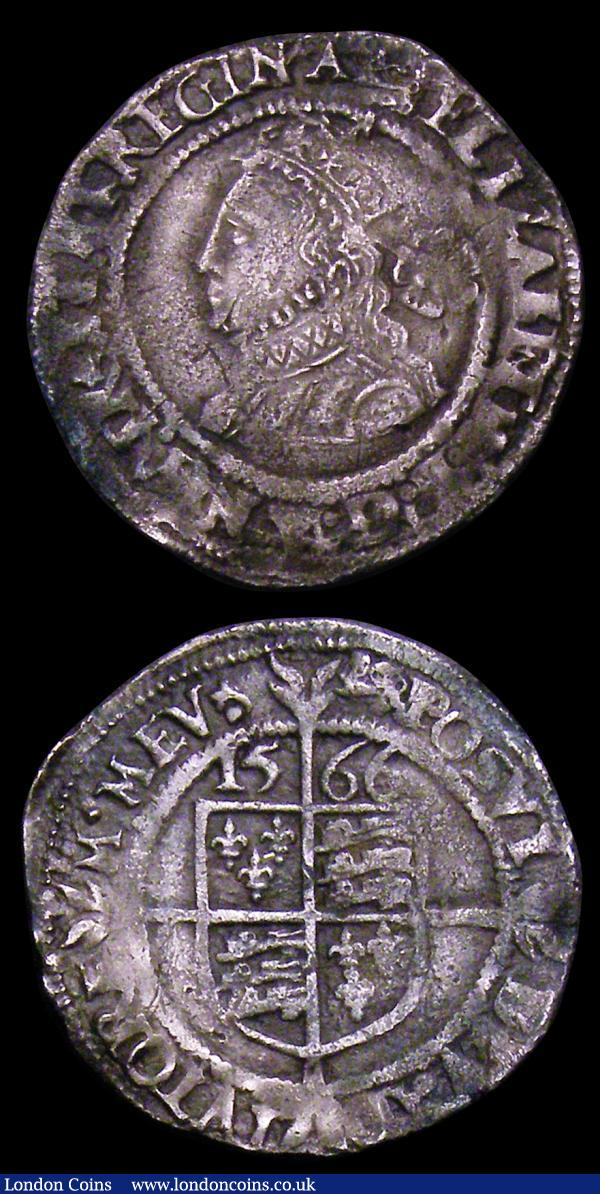 Threepences Elizabeth I (2) 1566 Third Issue S.2565 mintmark Lion, this possibly overstruck, Good Fine with grey tone, 1576 Tall Bust, S.2566 mintmark Eglantine VG/Near Fine : Hammered Coins : Auction 153 : Lot 2030