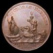 London Coins : A153 : Lot 2046 : Capture of Gibraltar and Naval Engagement off Malaga 1704, 40mm in bronze by J. Croker, Eimer 410 Ob...