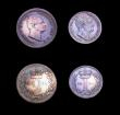 London Coins : A153 : Lot 2264 : Maundy Set 1831 ESC 2436 EF to GEF with matching tone, the Threepence, Twopence and Penny with some ...