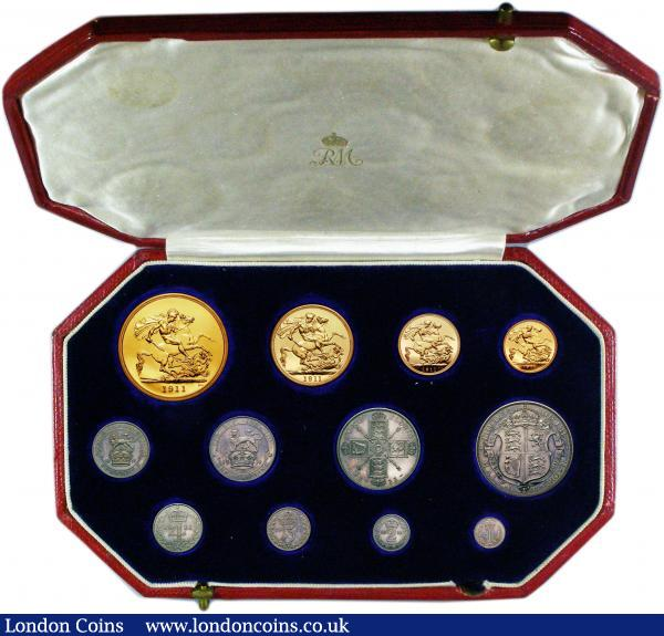 proof set 1911 buy and sell english cased and proof coins auction prices. Black Bedroom Furniture Sets. Home Design Ideas
