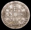London Coins : A153 : Lot 2457 : Crown 1666 XVIII ESC 32 Fine the obverse with some scratches