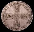 London Coins : A153 : Lot 2505 : Crown 1695 SEPTIMO ESC 86 GF or slightly better with a thin scratch in the obverse field