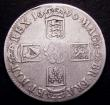 London Coins : A153 : Lot 2513 : Crown 1696 OCTAVO ESC 89 VG or slightly better with some scratches on the obverse