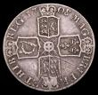 London Coins : A153 : Lot 2526 : Crown 1708 8 over 7 ESC 107 Fine with many adjustment lines