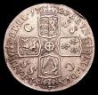 London Coins : A153 : Lot 2532 : Crown 1723 SSC ESC 114 VF with a couple of edge knocks and some contact marks on the obverse
