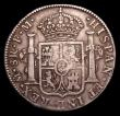 London Coins : A153 : Lot 2718 : Dollar George III Octagonal Countermark on a Mexico City 8 Reales 1792 ESC 138 countermark NVF, host...