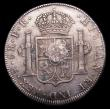 London Coins : A153 : Lot 2719 : Dollar George III Oval Countermark on 1795 Bolivia 8 Reales Potosi Mint ESC 131 countermark GVF host...