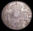 London Coins : A153 : Lot 2721 : Dollar George III Oval Countermark on 1792 Mexico City 8 Reales ESC 129 countermark VF host coin Goo...