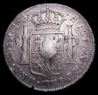 London Coins : A153 : Lot 2722 : Dollar George III Oval Countermark on 1793 Peru 8 Reales LIMA ESC 133 countermark VF host coin NVF w...