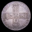 London Coins : A153 : Lot 2940 : Halfcrown 1703 VIGO ESC 569 Fine/Good Fine with a small spot on the bust