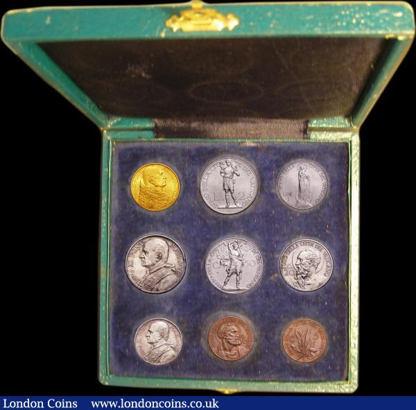 1967 Italy Vatican complete set coins  UNC with silver in official RED BOX