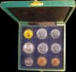 London Coins : A153 : Lot 709 : Vatican City Mint Set 1929 9 coin set with the 100 Lire Gold issue, first year of issue KM MS1 10,00...