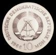 London Coins : A153 : Lot 999 : Germany - Democratic Republic 10 Marks 1966 Schinkel KM15.1 Unc