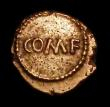 London Coins : A154 : Lot 1530 : Au Quarter stater.   Cantii.  Eppillus.  C,1-15 AD.   'Margate' type.  Obv; COM.F across c...