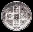 London Coins : A154 : Lot 1776 : Crown 1847 Gothic UNDECIMO ESC 288 Bright EF