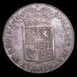 London Coins : A154 : Lot 2123 : Halfcrown 1689 Second Shield, Caul only frosted, with pearls, ESC 505 GVF/NEF pleasantly toned with ...